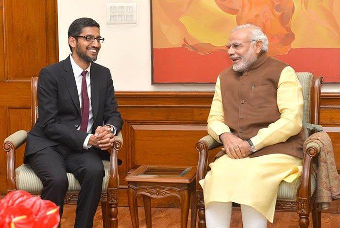 प्रधानमंत्री ने प्रौद्योगिकी, कार्य संस्कृति पर सुंदर पिचाई से बाचतीत की